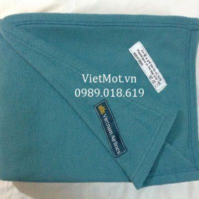 Mền nỉ Vietnam Airlines màu xanh ngọc chính hãng 100%