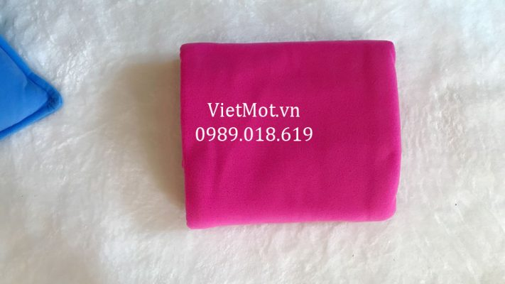 Mền nỉ màu hồng sen Việt Mốt